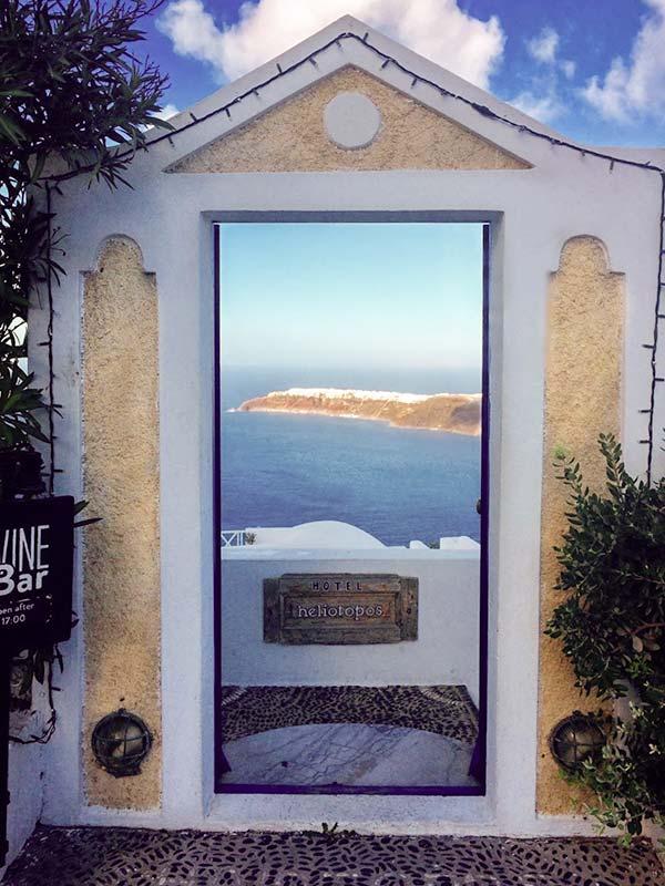 Entrance to Heliotopos Hotel, Santorini
