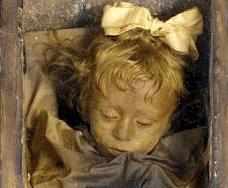 Rosalia Lombardo preserved corpse on display in Palermo