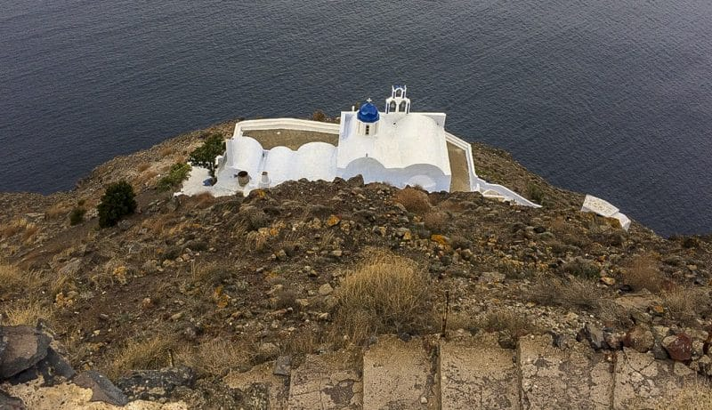 The Chapel of Panagia Theoskepastion Skaros Rock