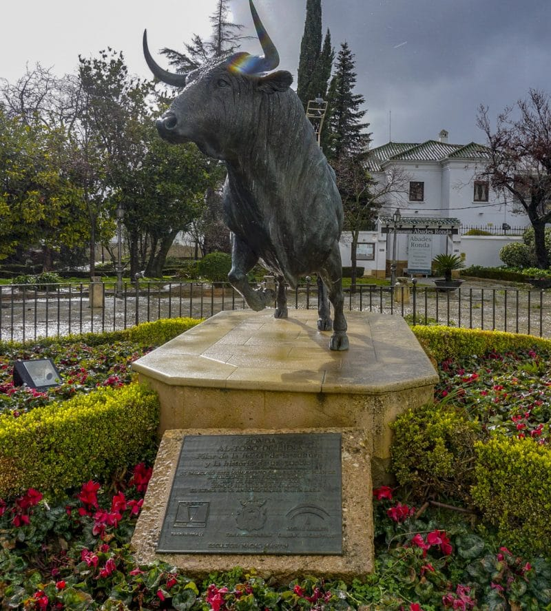 Tribute outside the Plaza des Toros de Ronda