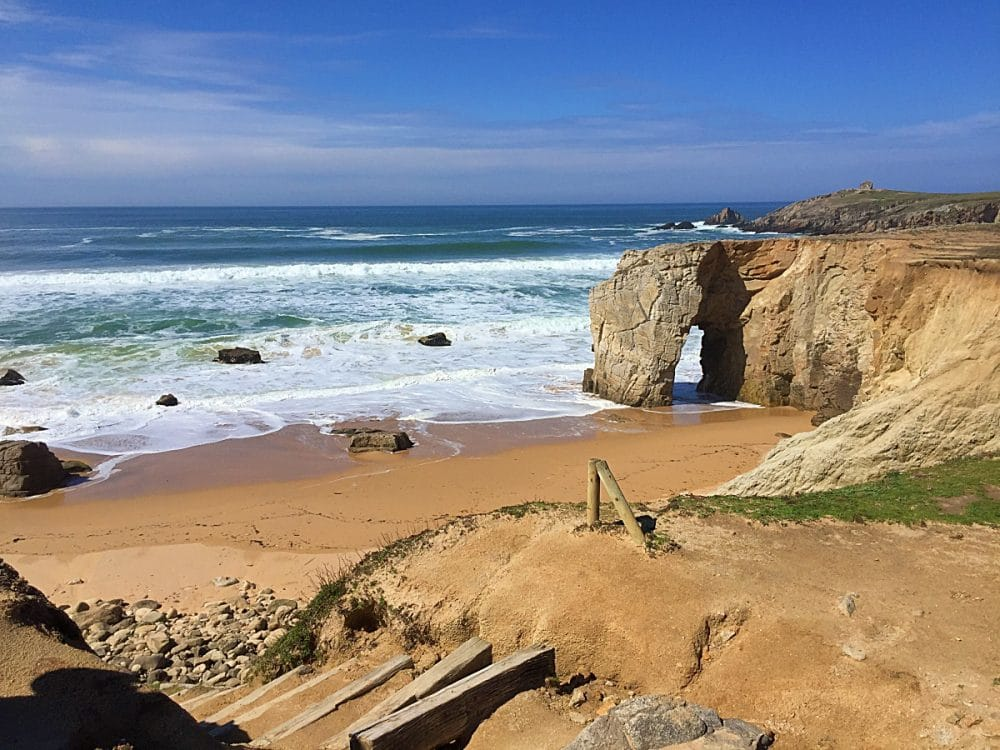 Rock arch in Quiberon, Brittany