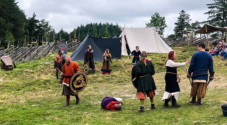 Viking Battle at the Viking Farm at Avaldsnes