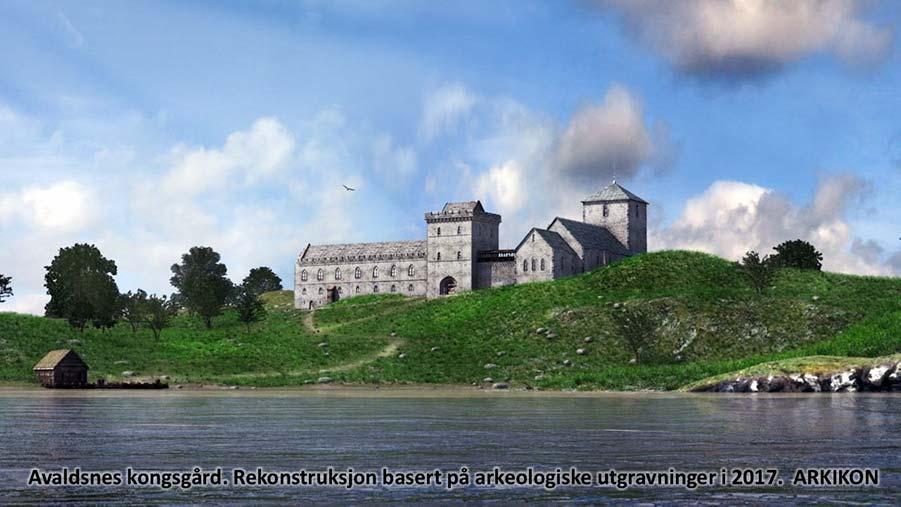 Artist impression of Royal Manor at Avaldsnes