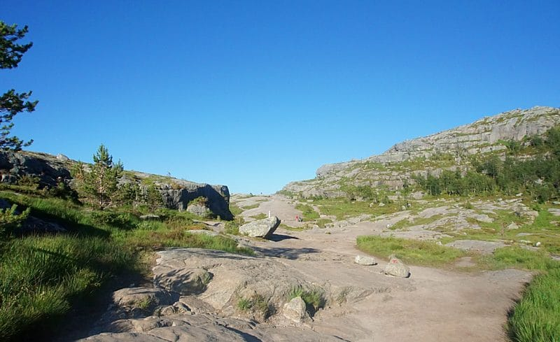 Preikestolen Hike -the  steeper parts of the climb towards Pulpit Rock are interspersed with gentler paths.