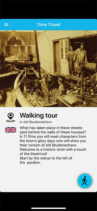 Skudeneshavn Time Travel App screenshot
