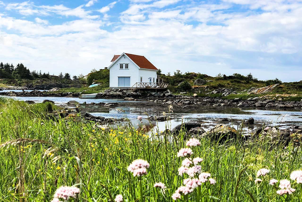 Boat hut near the shore at Skudeneshavn, Karmoy