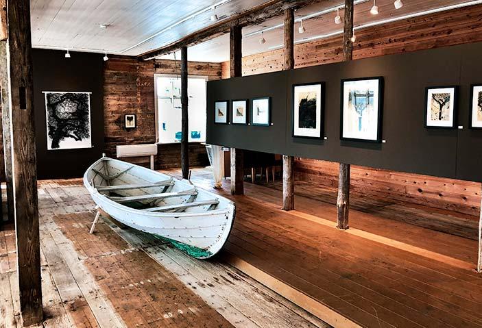 Inside the main art gallery in Skudeneshavn