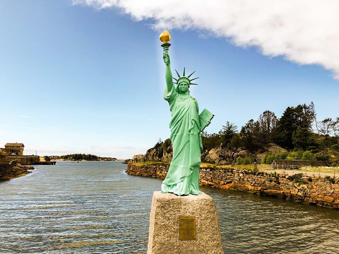 Statue of Liberty at Visnes, Karmoy