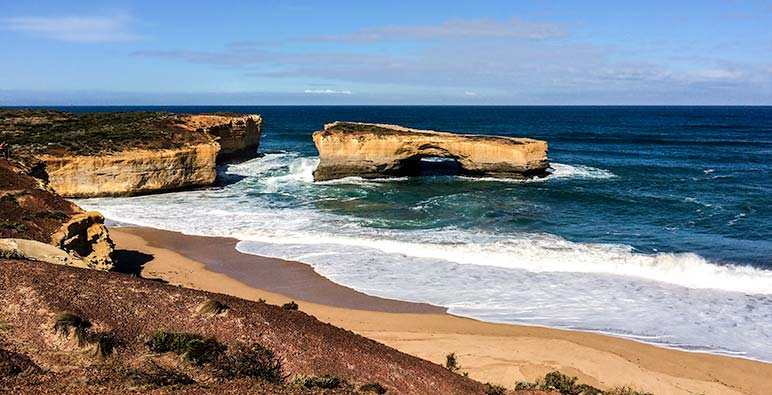 Twelve apostles on Great Ocean Road, on Drive from Perth to Melbourne