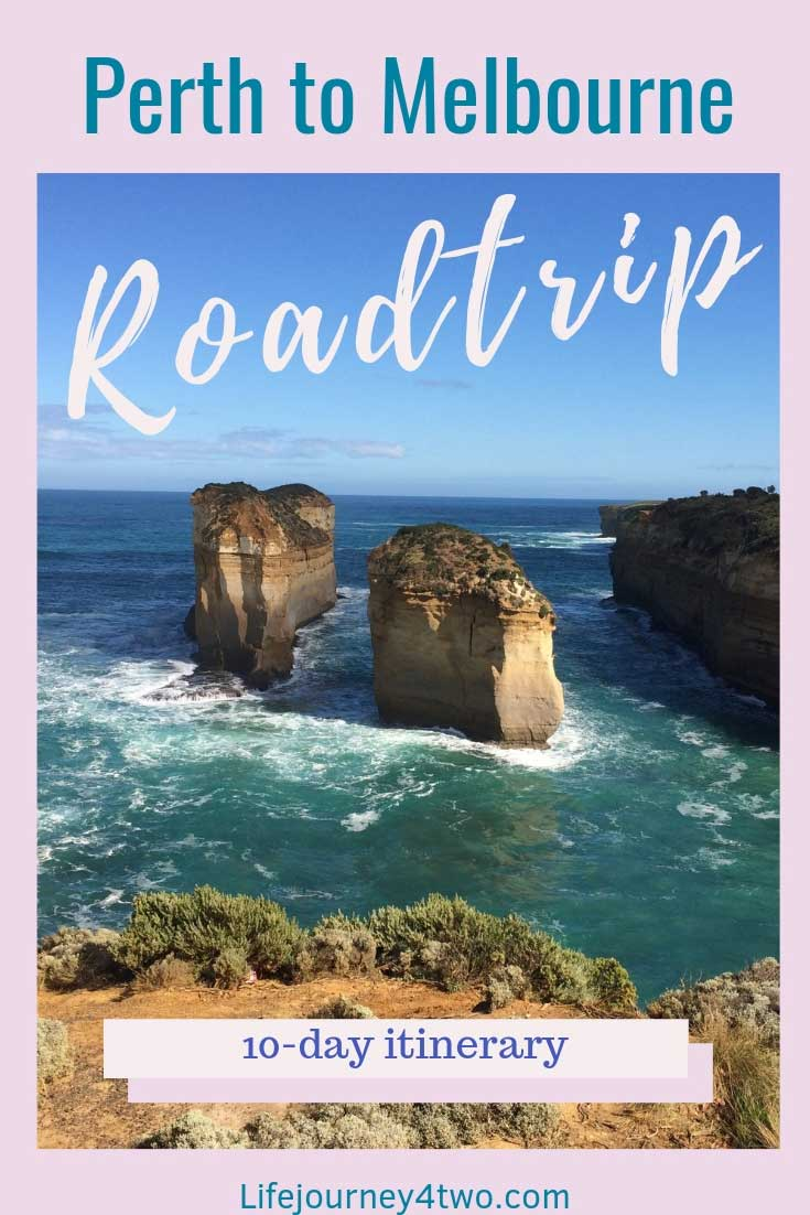 Pinterest pin for the Perth to Melbourne Road Trip