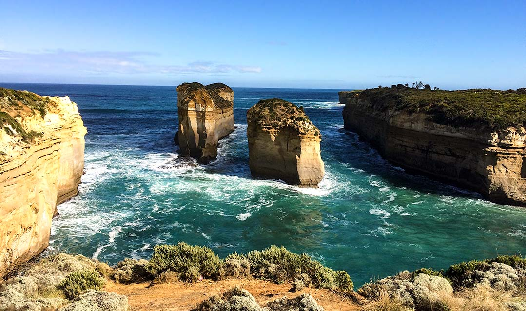 Perth to Melbourne drive - great ocean road