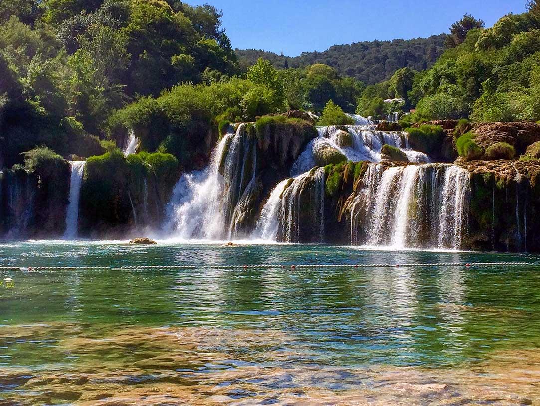 Skadinski Buk Falls Waterfall in Krka National Park Croatia