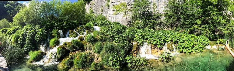 Croatia Plitvice Lakes waterfall on our Croatia Roadtrip