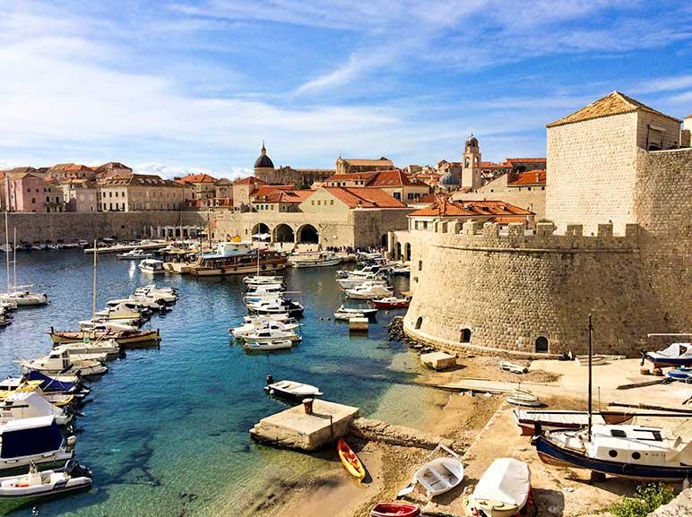 Dubrovnik, Croatia - view of the harbour
