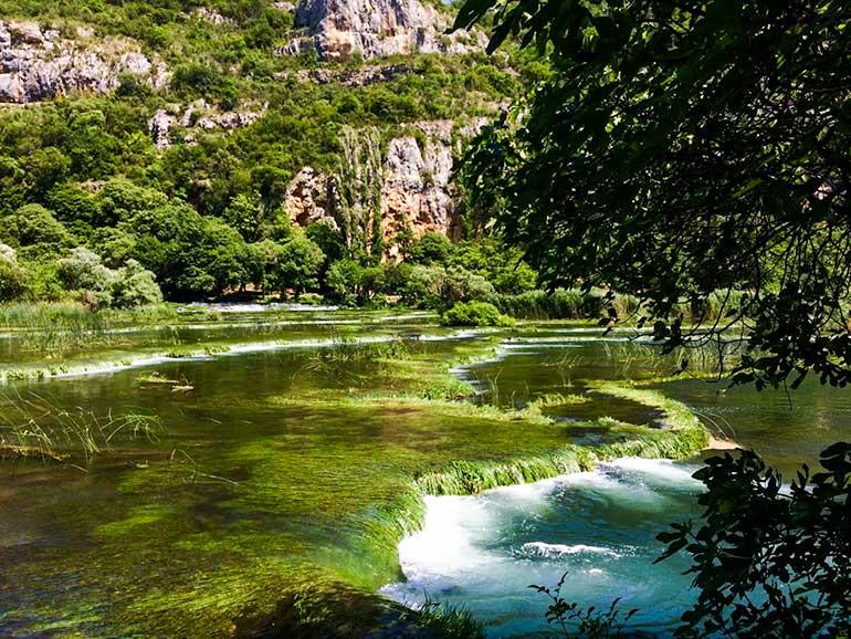 Roski Slap small cascades in Croatia