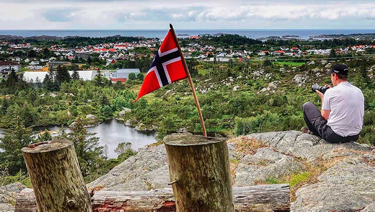 Lars overlooking Skudeneshavn