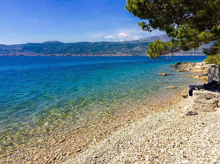 Small pebble beach at Split