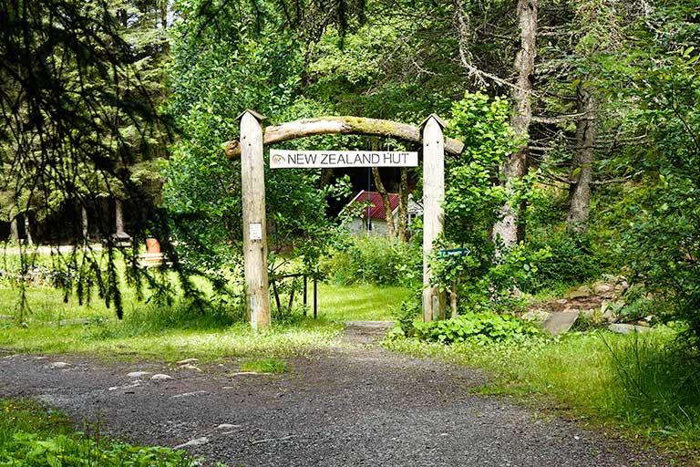 New Zealand Hut sign in Skudeneshavn Forest