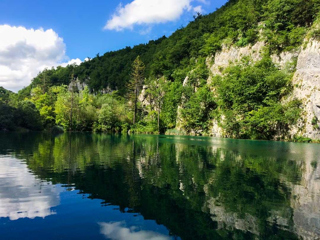 Plitvice Lakes lake and forest, Croatia