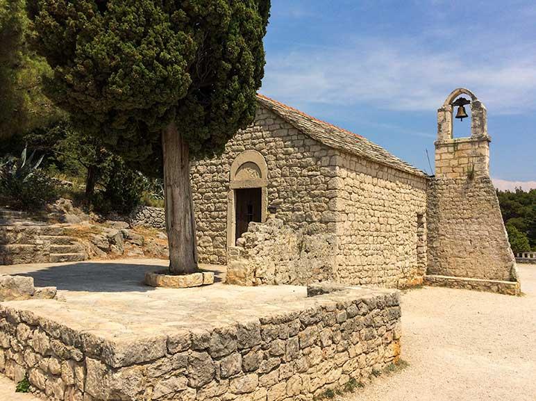 Old church in Marjan Forest, Split