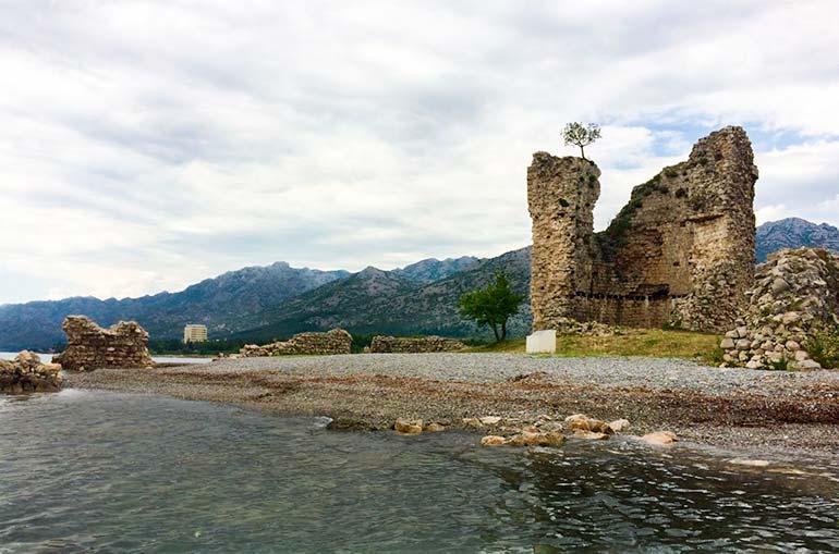 Vecka Kula tower on the beach at Starigrad, Croatia