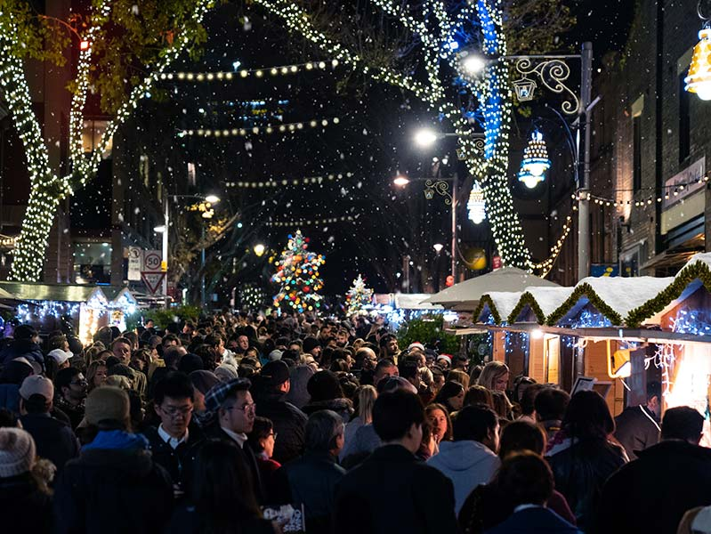 Christmas in July at The Rocks, Sydney