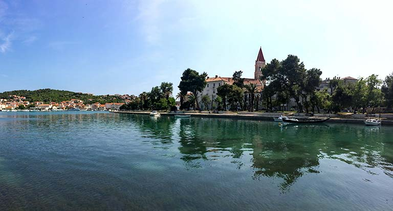 view Trogir from the bridge across to it, Croatia