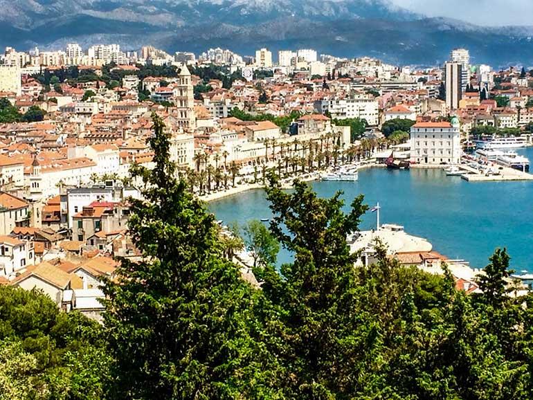 View over Split