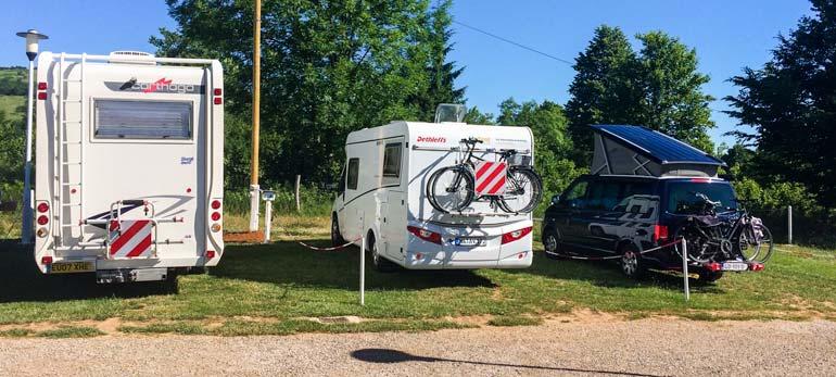 Camper van parked at Plitvice Bear Camp