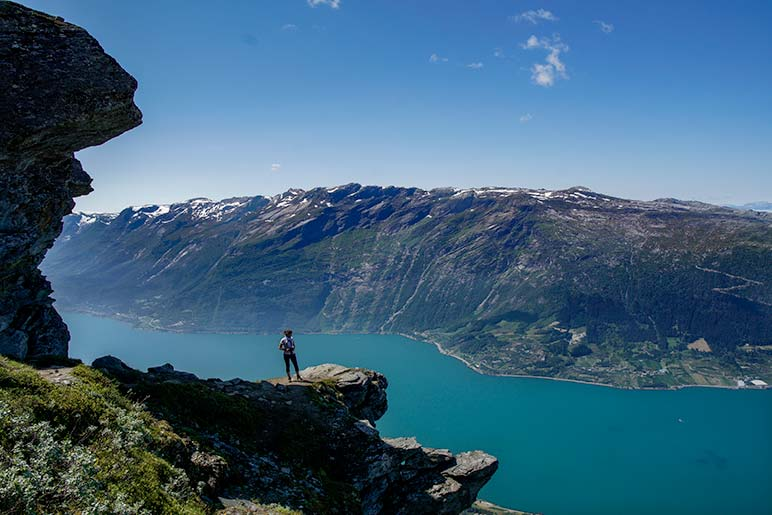 Hiking Norway -Dronningstien Hike view across the fjord
