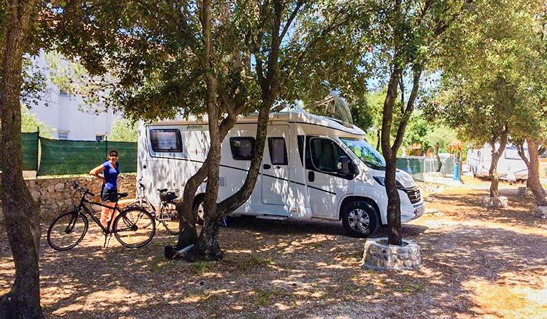 Motorhome on our croatia road trip