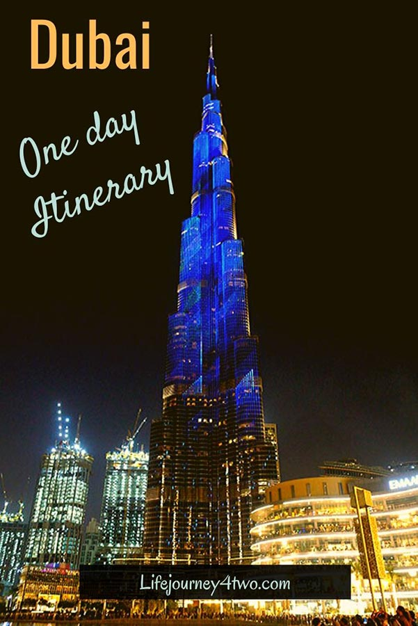 Dubai one day itinerary pinterest pin