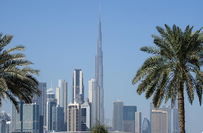 Dubai Skyline with Burj Khalifa Centrepiece