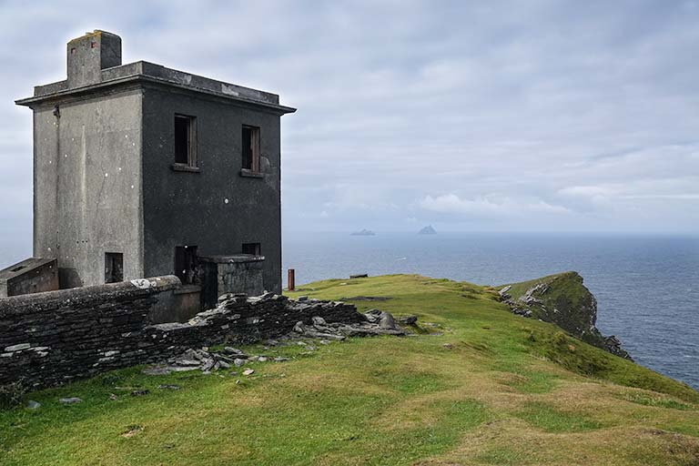 Bray Head - Old building at the top of a peninsula looking over the sea
