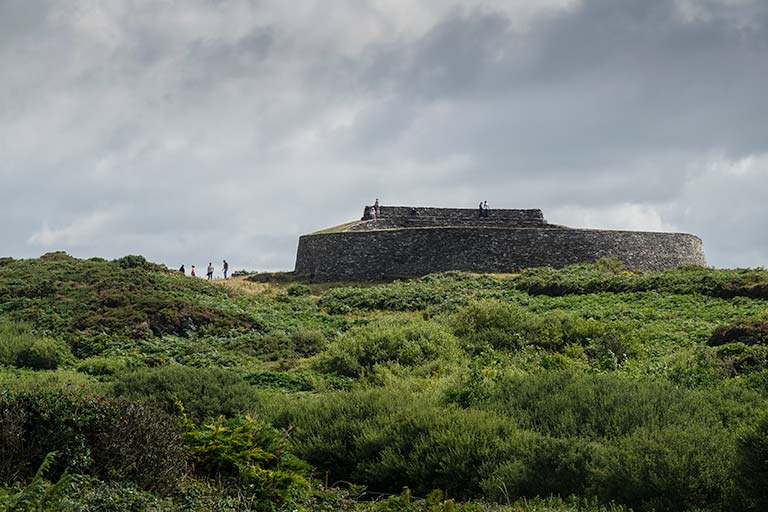 Day Three of our Ireland Road Trip -Cahergal Ringed fort of stones in the green hills