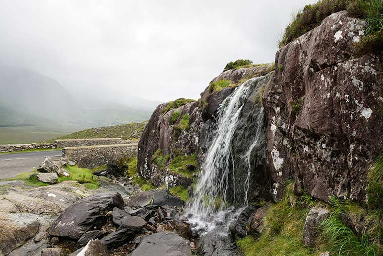 Lough Doon Waterfall on day of of the 7 day Ireland Itinerary