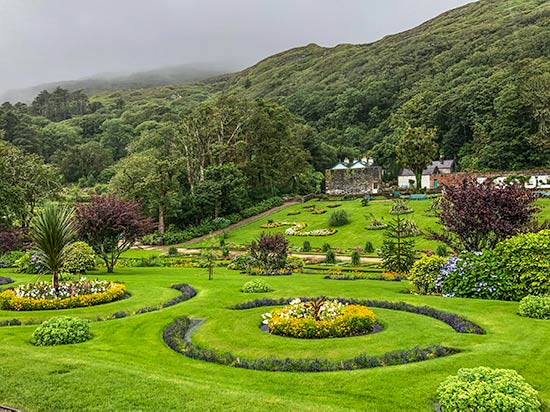 Victorian era themed gardens at Kylemore Abbey
