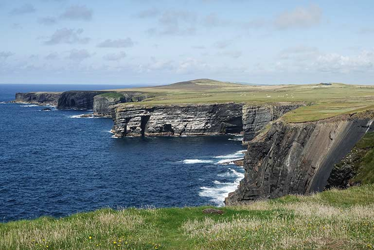 Lovely coastal views of the cliffs