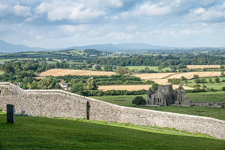 Ruins of Hore Abbey seen from the Rock of Cashel