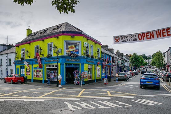 Colourful shop selling the best ice-creams in Ireland