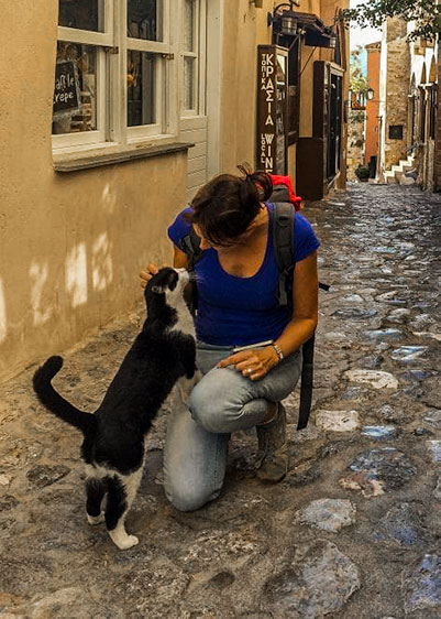 Cat in Monemvasia Street