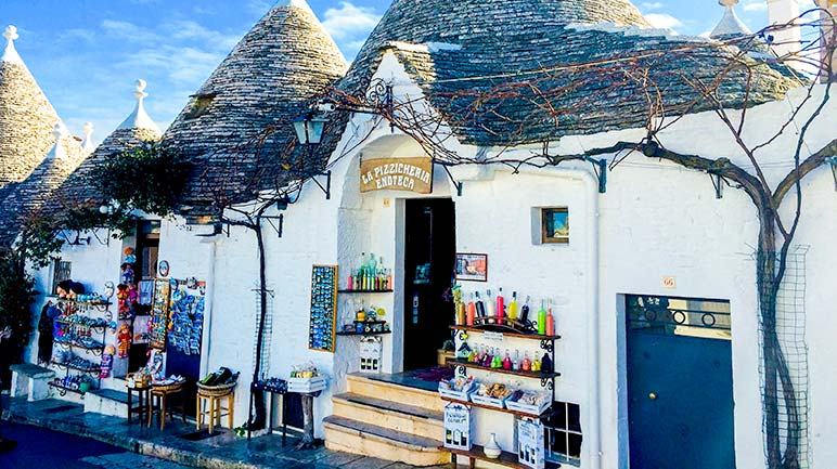 Rione Monti Trulli as shops in Alberobello