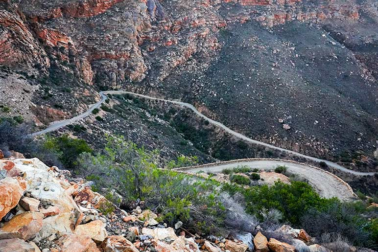 Swartberg Pass road through Mountains in south Africa