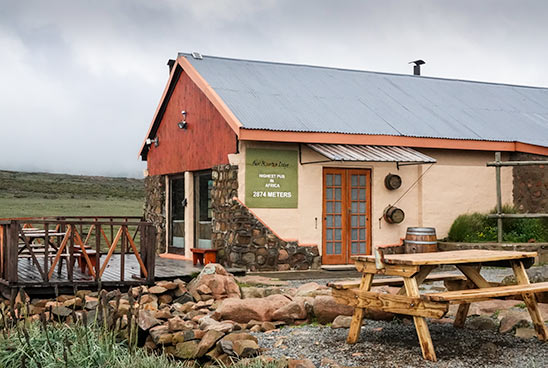 The Sani Mountain Lodge at the top of the Sani Pass
