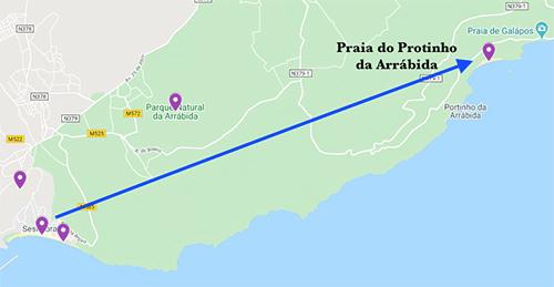 Sesimbra to Parque Natural da Arrábida