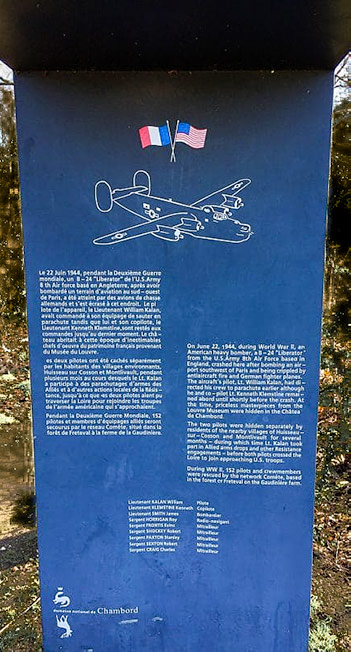Commemorative plaque outside the grounds of Chateau de Chambord - Loire Valley Itinerary