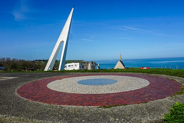 White Bird Memorial in the shape of an aircraft  - Normandy road trip