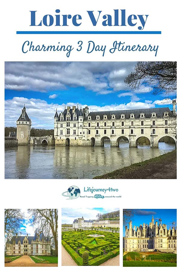 Loire Valley Itinerary Pinterest pin