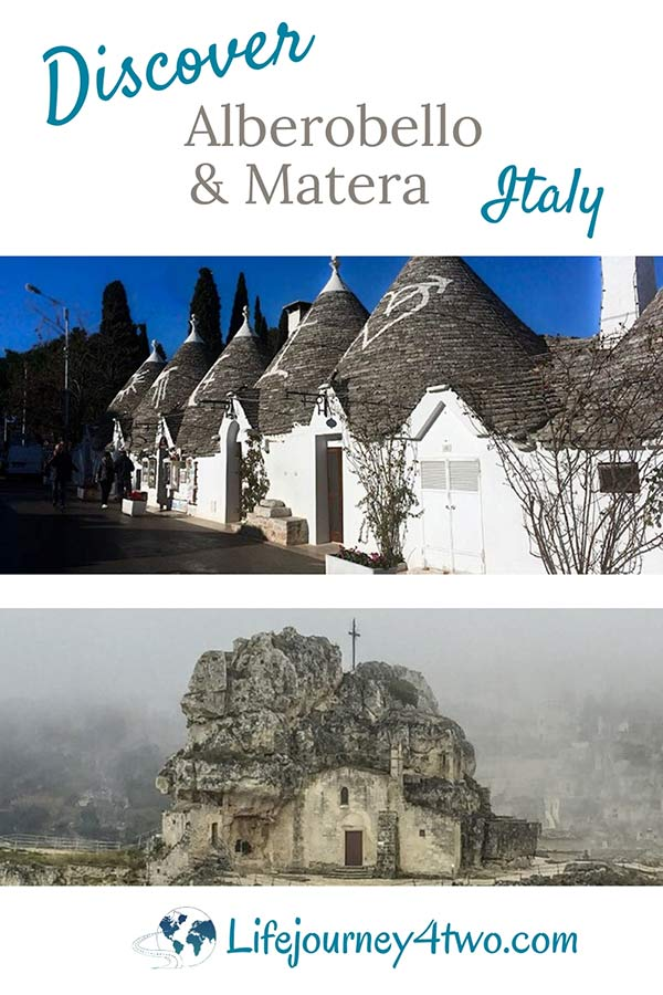 Matera and Alberobello Pinterest pin