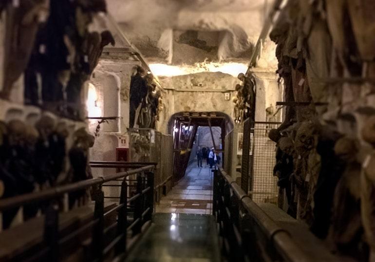 Corridor of the Palermo catacombs